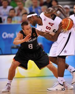 Mammutaufgabe bei Olympia 2008 - Konrad verteidigt LeBron James